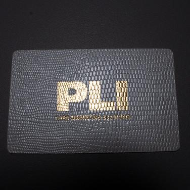 PLI Leatherette Card - Black