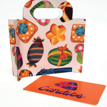 Standing Bag Card Carrier
