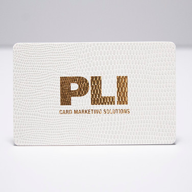PLI Leatherette Card - White