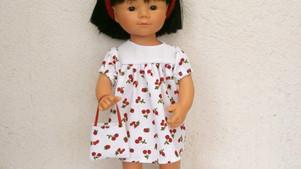 Robe fruits rouges pour Marieta (35 cm)