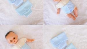 Couches bleues pour Petit Câlin 28 cm (unie, pois)