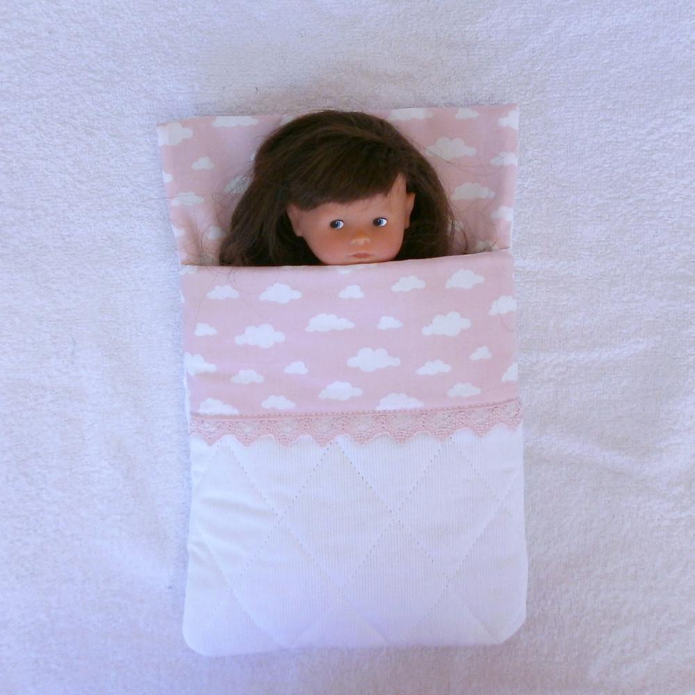 Sac de couchage rose pour mini Corolline