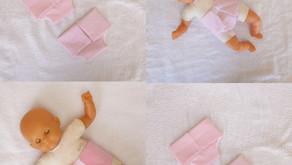 Lot de 2 couches roses pour poupon de 30 cm (unie, pois)