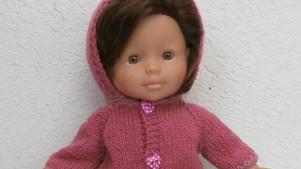 Pour Ma Corolle, une veste à capuche rose