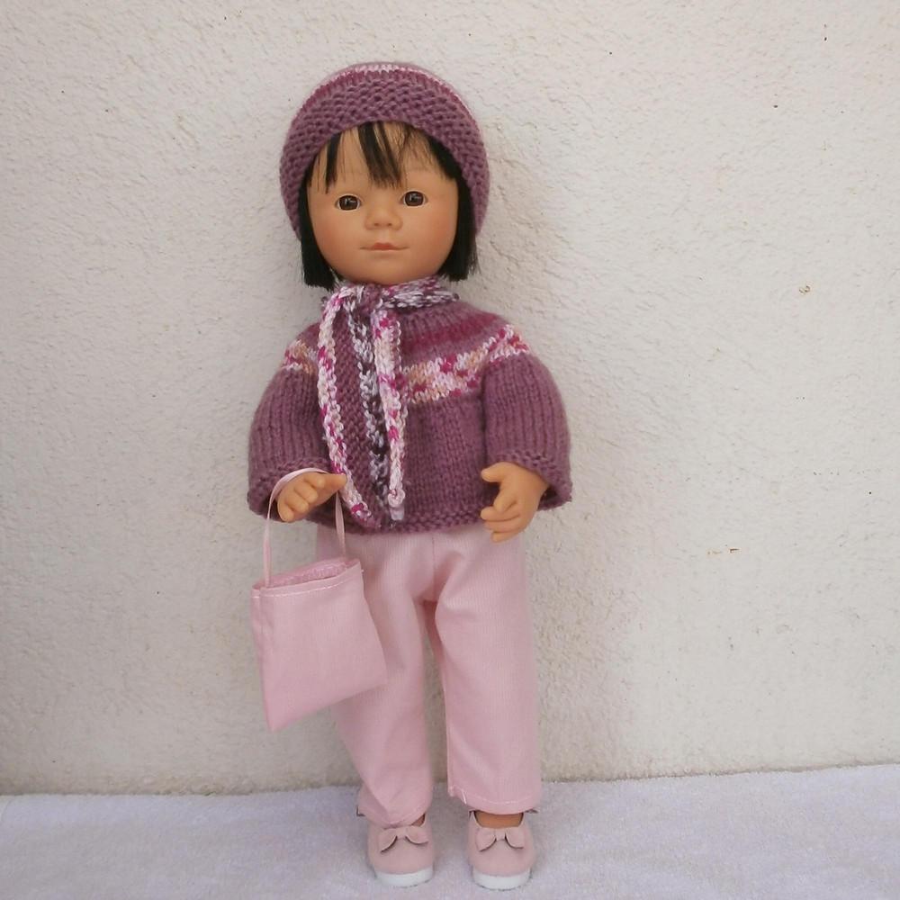Tenue d'hiver rose pour Marieta
