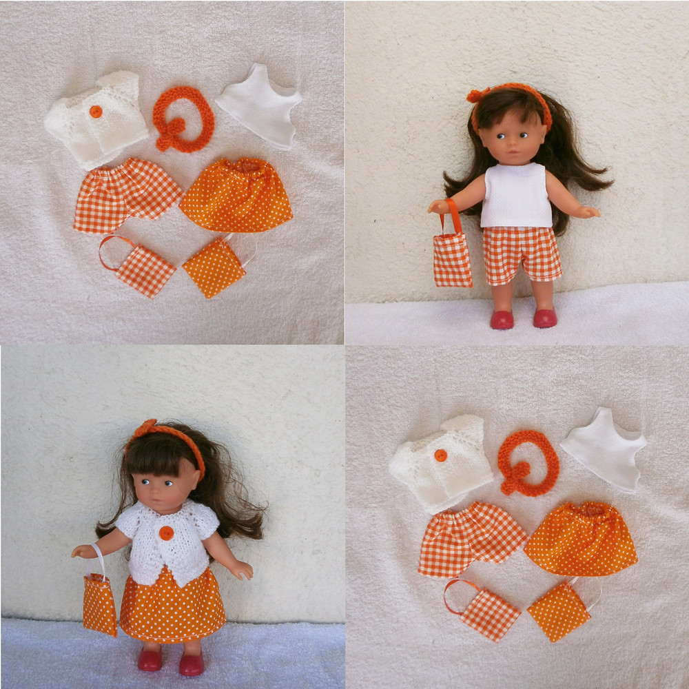 Lot de vêtements d'été orange pour mini Corolline