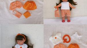 Rupture de stock - Mini Corolline - lot de vêtements été (orange)