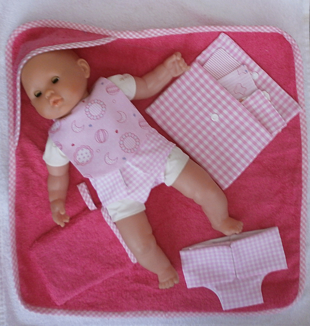 Accessoires de toilette roses pour poupon 36 cm Corolle