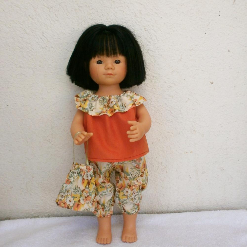 Pour poupée Marietta, une tenue d'été Liberty