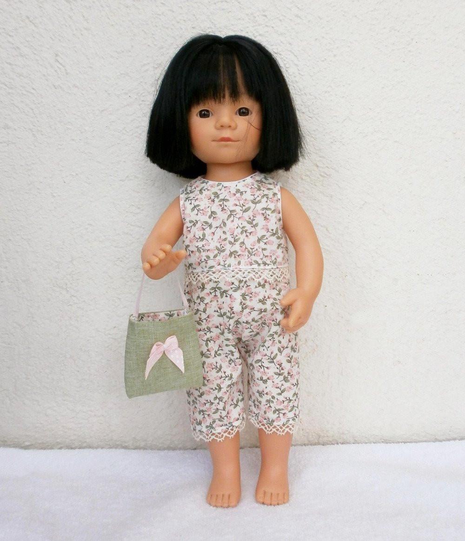 Ensemble vert et rose pastel pour poupée Marieta