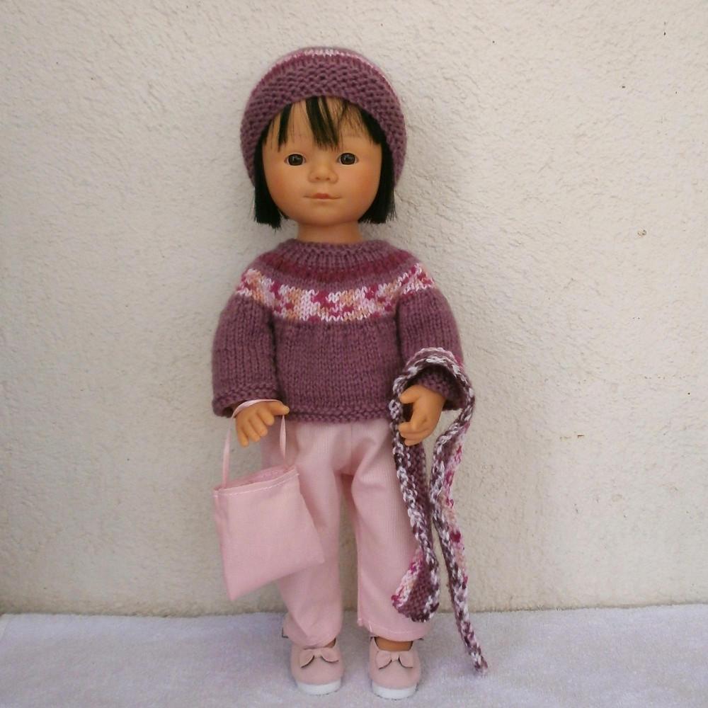 Tenue d'hiver rose pour Marieta D'Nenes