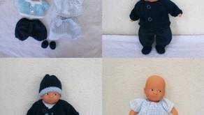 Rupture de stock - Vêtements pour mini poupon : Les Basiques bleu marine