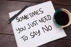 What it means to say 'No'
