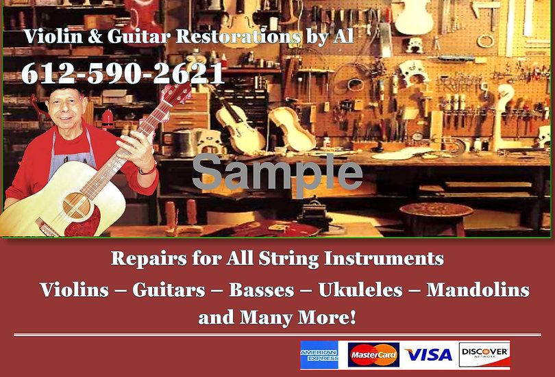 Poster Violin and Guitar Restorations by