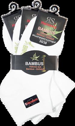 "Harmony Kurzstrumpf ""Bambus Weiß"""