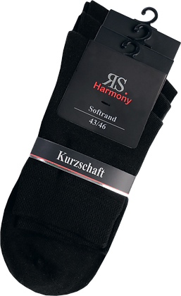 "Men Harmony Kurzschaftstrumpf ""Schwarz"""
