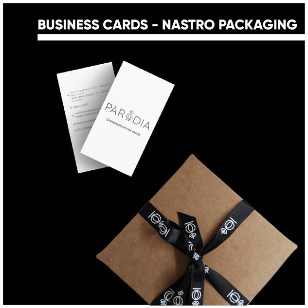 Business cards & Nastro per Parodia