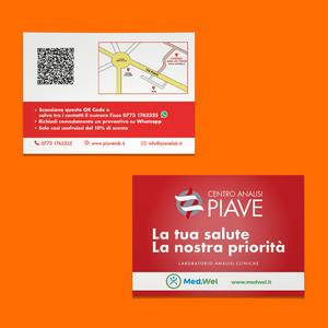 Fronte e retro cartolina Centro Analisi Piave 2019