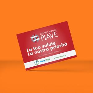 Fronte cartolina Centro Analisi Piave 2019