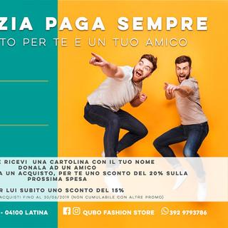 Cartolina Campagna L'Amicizia Paga Sempre 2019