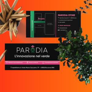 Cartoline Parodia Riccione fronte retro