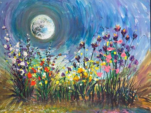 Moon glow garden