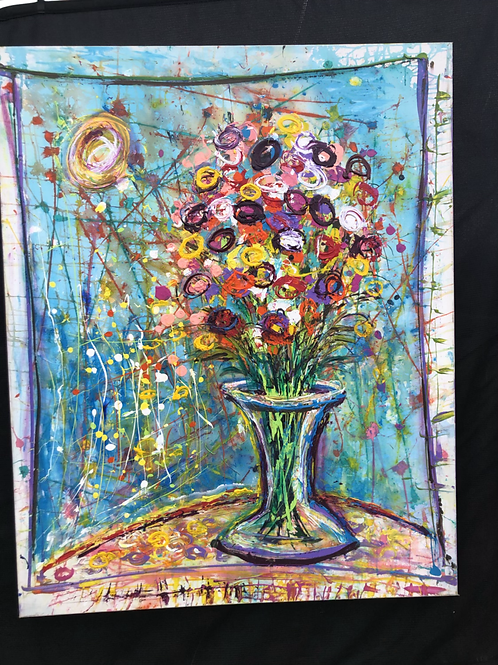 Vase of color
