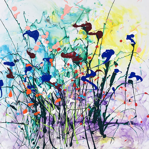 abstract garden 38 by 48