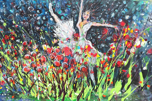 Ballerina in the Rose Garden