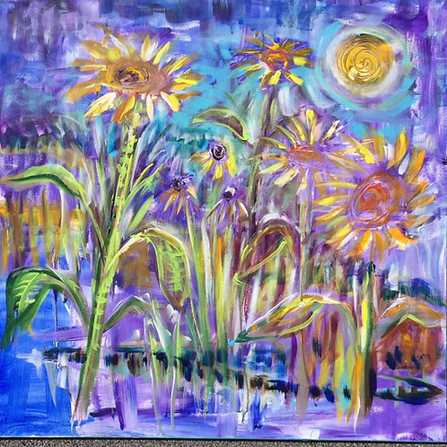 dreaming of sunflowers 36 by 36