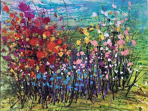 Happy garden of colors