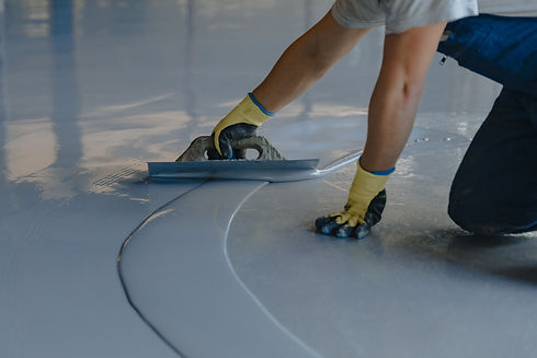 Naperville epoxy contractor installing a
