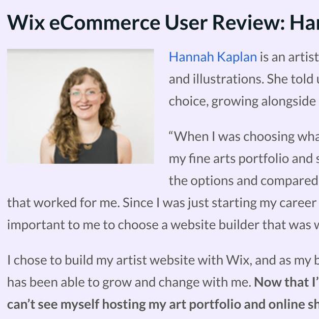Quoted on websitebuilderexpert.com