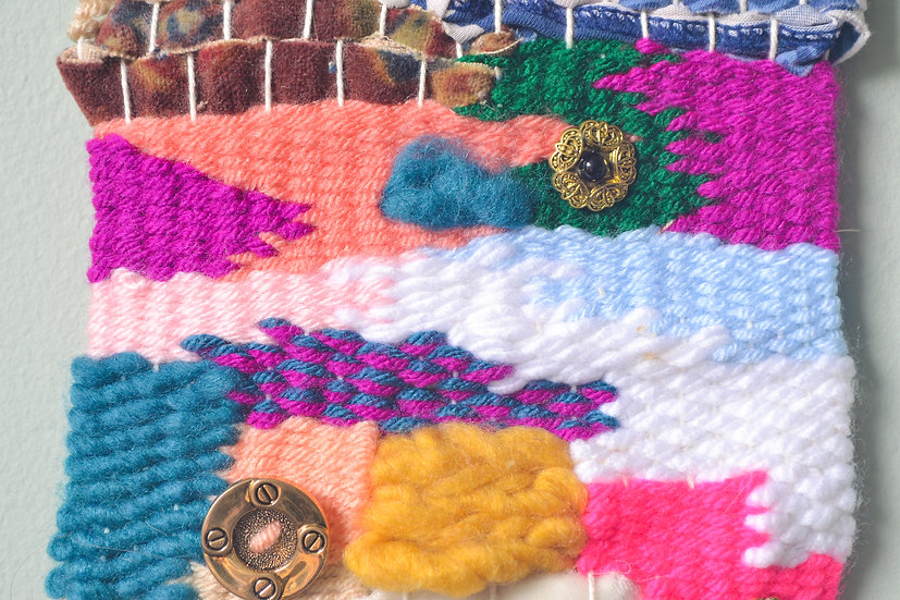 Fabric and Button Weaving