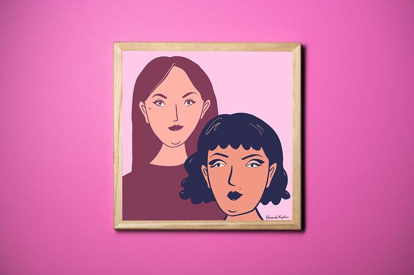 Two Women Print