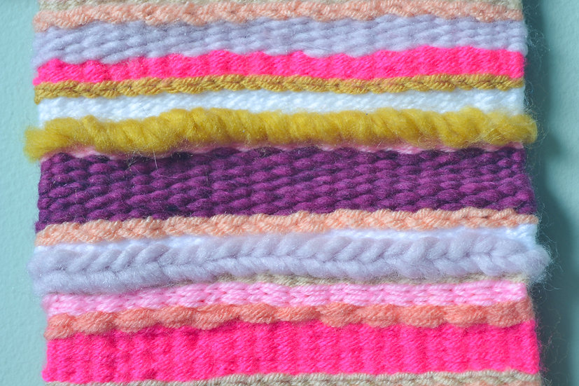 Pink, Purple and Yellow Weaving