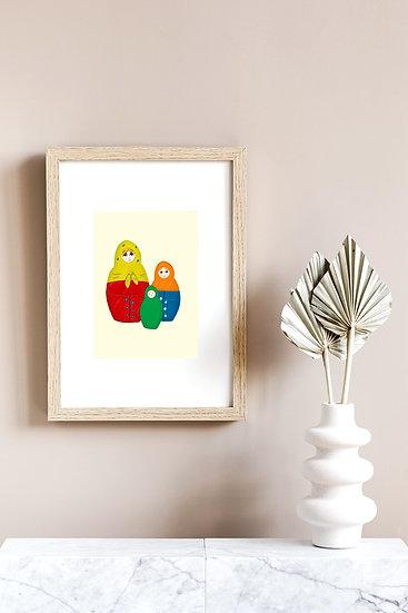 Nesting Dolls Print