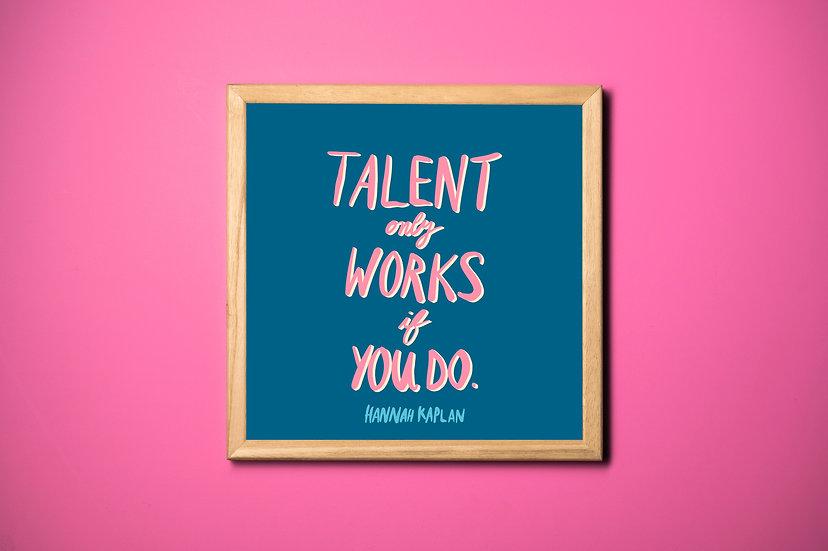 Talent Print