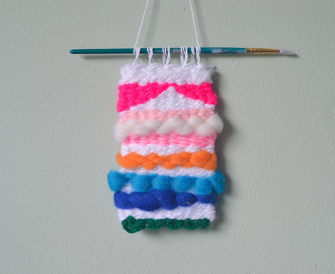Pink, Blue and White Weaving