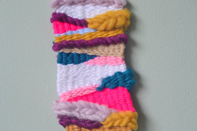 Pink, White and Yellow Weaving