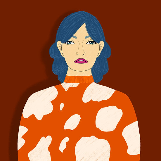 Cow Sweater Print