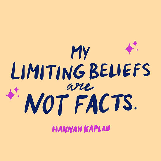 My Limiting Beliefs Are Not Facts Print