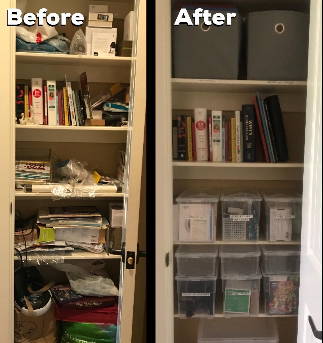 Decluttering hall closet