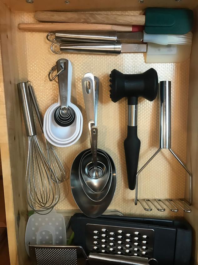 Kitchen tools organized