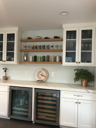Moving back in - kitchen unpacked and organized