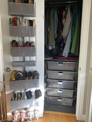 Hall Closet with Shoe Storage