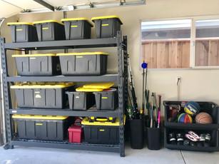 Garage organized and pretty