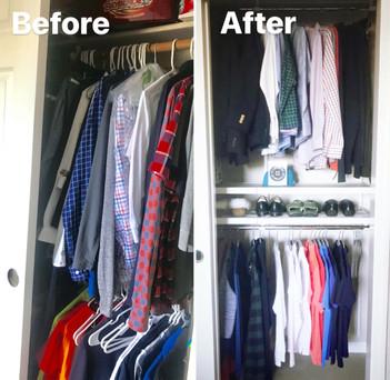 Boys closet upgrade