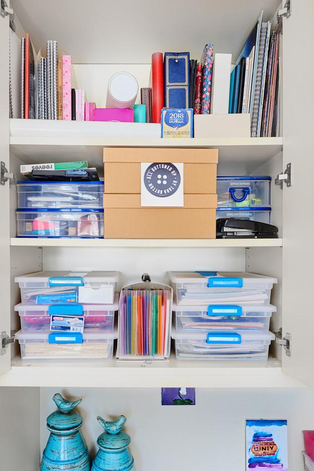School Supplies Organized