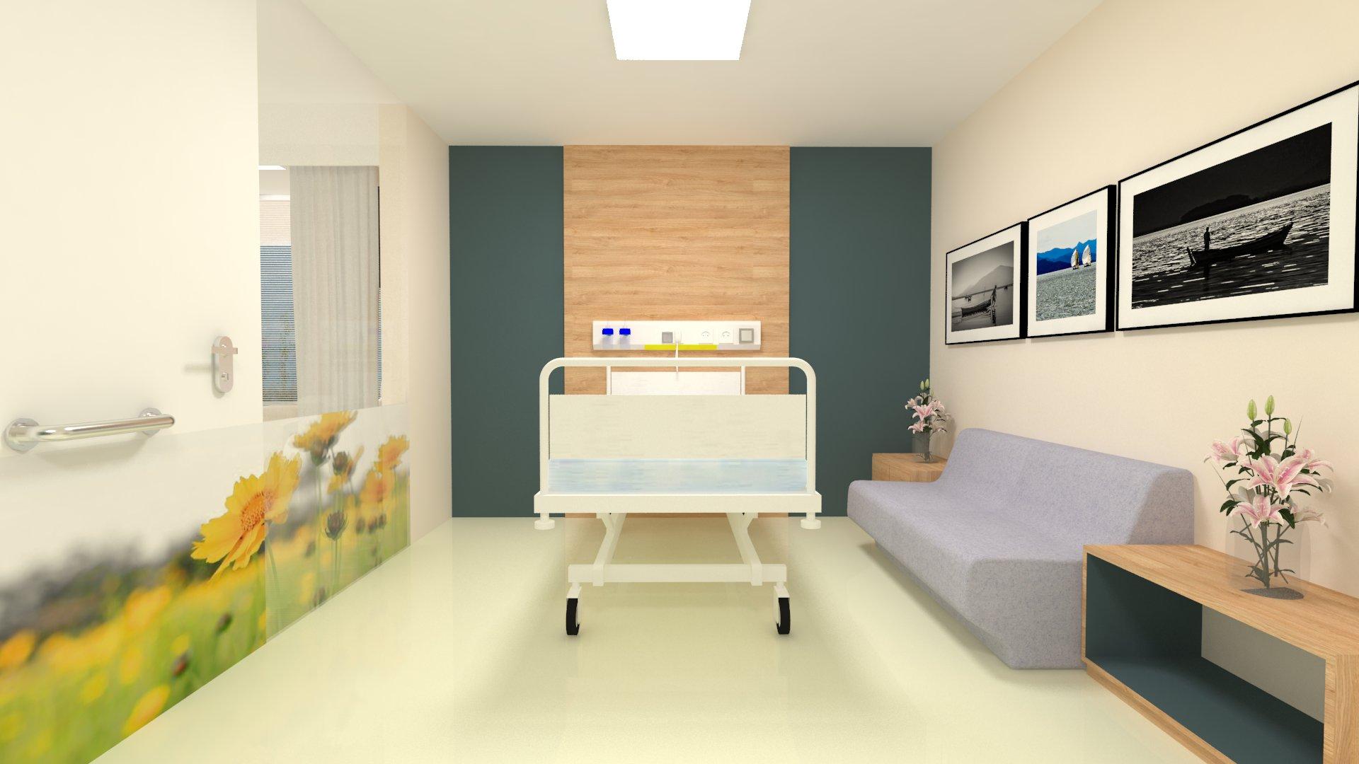 Estudo para ambientação de quarto